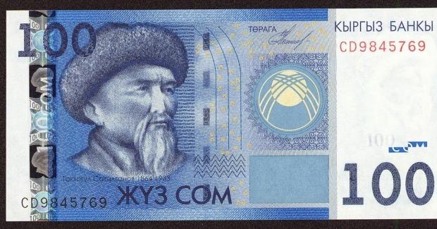 kyrgyzstan2bcurrency2b1002bsom2bbanknote